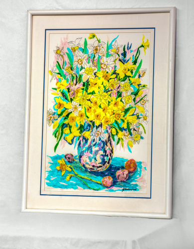 Daffodil bouquet by Original Artwork by Genevieve Taunis Wexler
