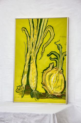 Onions by Original Artwork by Genevieve Taunis Wexler