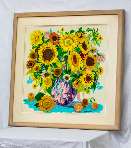 Sunflower tissue collage