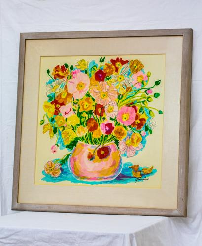 Poppy bouquet collage