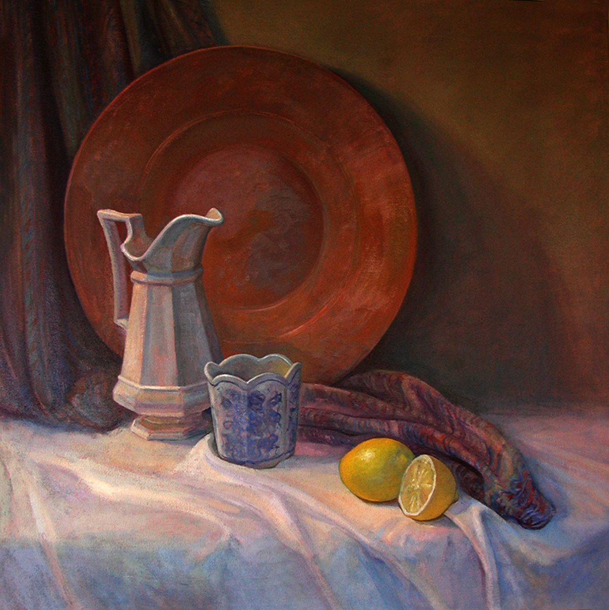 """""""Still Life with Copper Tray and Pitcher"""" (large view)"""