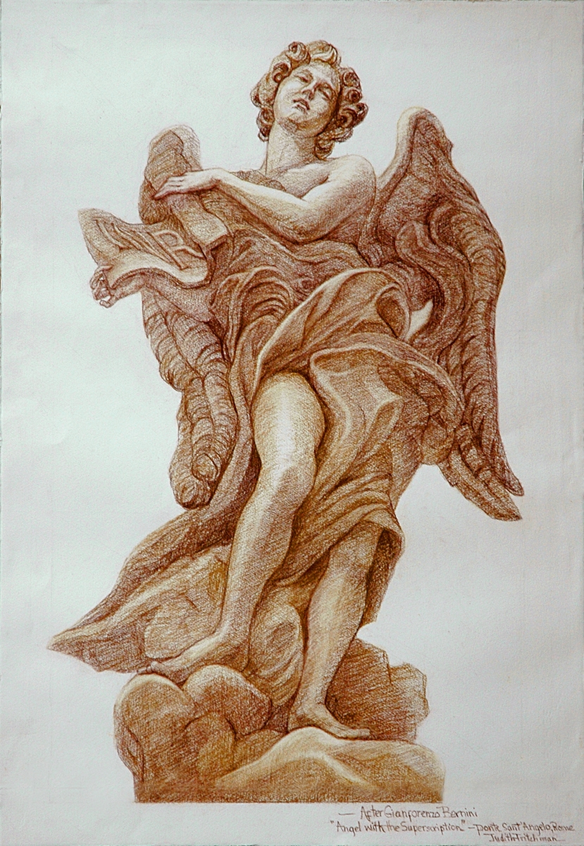 """""""Angel with the Superscription""""...after Bernini (large view)"""
