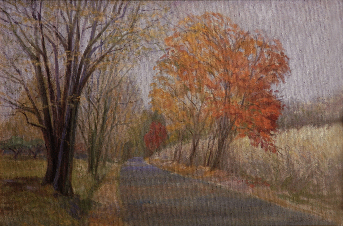 """Road Home in Autumn"" (large view)"