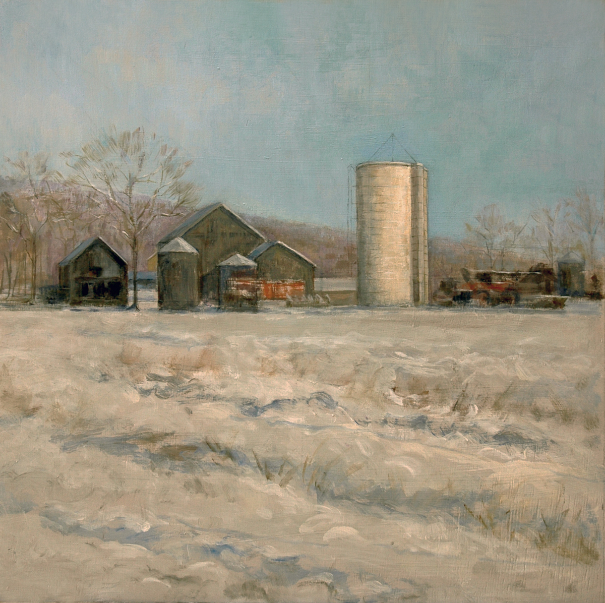 """""""Winter at Lindsay's Farm"""" (large view)"""