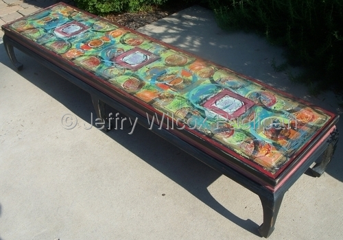 Asian coffee table and bench May 2011