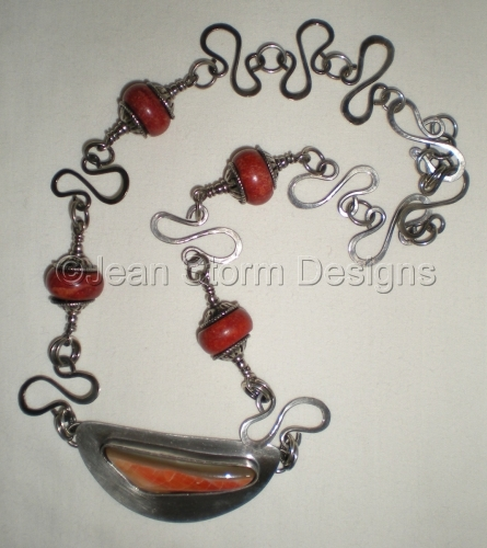 N7410 - Abalone & Red Coral by Jean Storm Designs