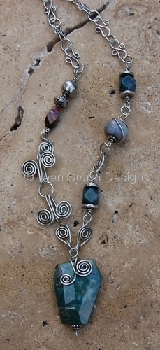 N611 - Jasper with Sterling Silver by Jean Storm Designs