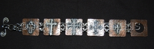 B7700R - Crosses Bracelet - CUSTOM ORDER