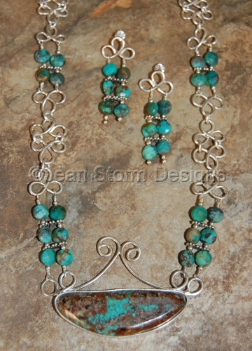 NER7406 - Turquoise & Sterling Silver Set