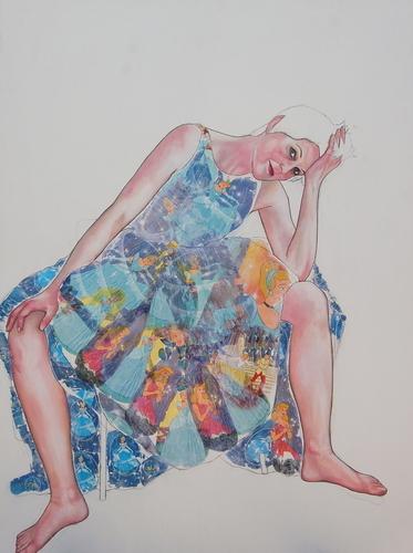 in Cinderella's dress