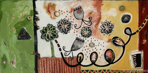 A Bit of Whimsy In Your Day by Joyce Wynes | Abstract Paintings