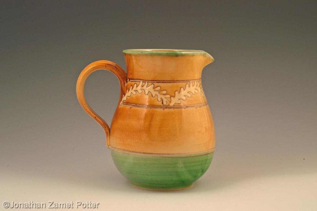 Provencal slipware jug (large view)