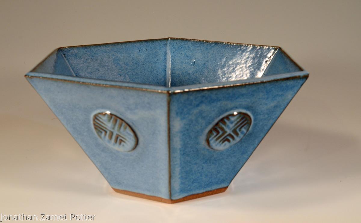 Ceramics hexagonal slab bowl original art by jonathan zamet hexagonal slab bowl reviewsmspy