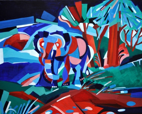 Elephant at landscape