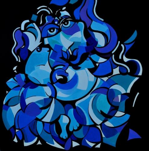 Nostalgic Ganesh On Blue Lotus