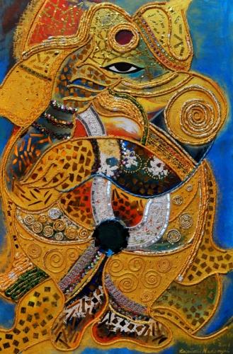 Ganesha Golden Dancer