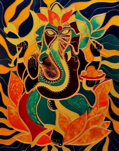 Ganesha on Glass