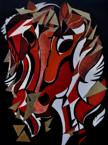 Abstract Horse Face Front