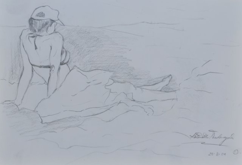 Women by the beach