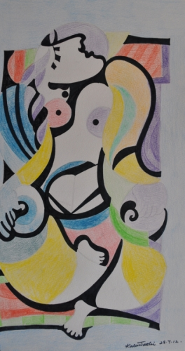 Woman influenced by Picasso