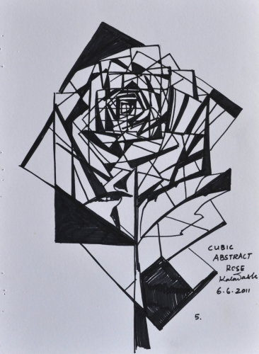 Cubic Abstract Rose