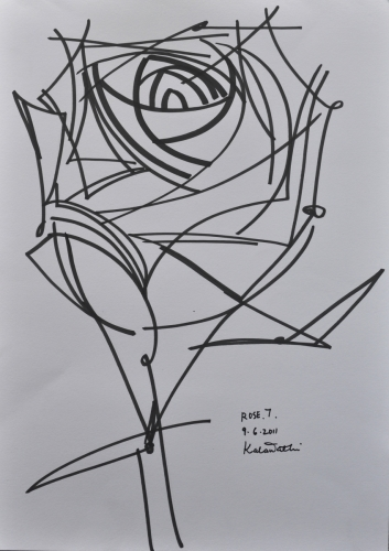 Rose Geometric Abstraction