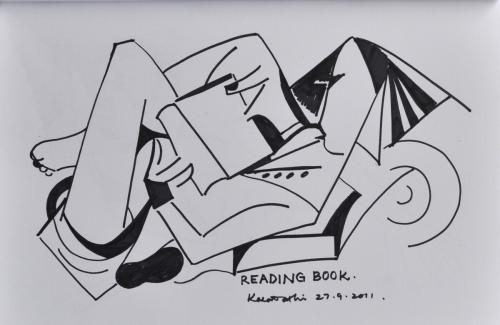 Lavi reading book
