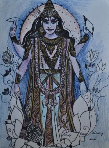 Study Vishnu Painting