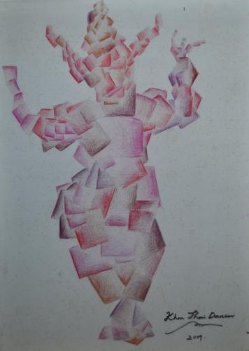 Thai Dancer Cubism