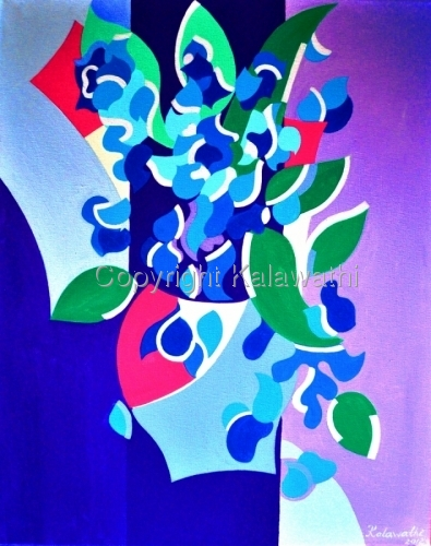 Irises Geometric Abstraction