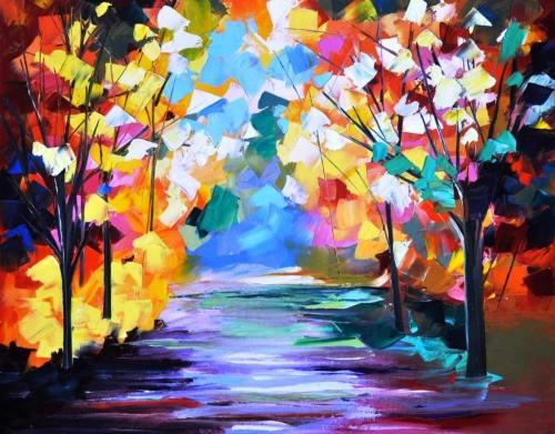 Magical Trees- After Leonid Afremov