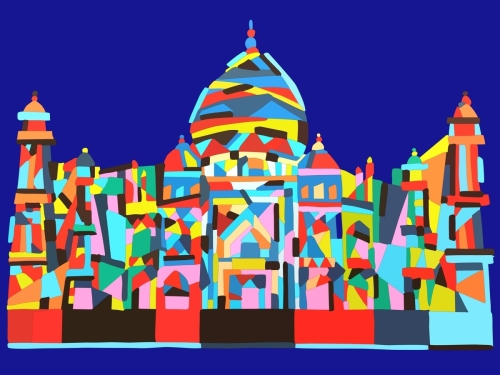 Taj Mahal- Geometric Abstraction