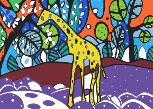 Giraffe- Naive Art