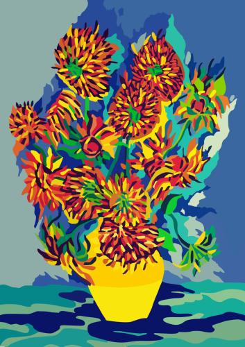 Flaming Vangogh's Sunflowers