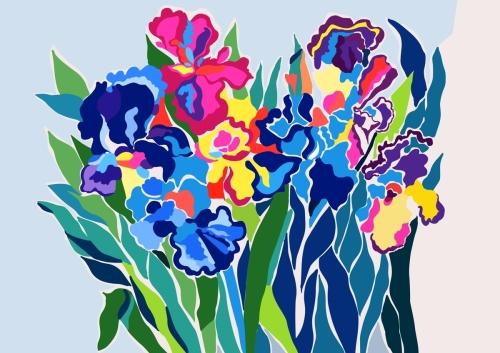 Floating Irises