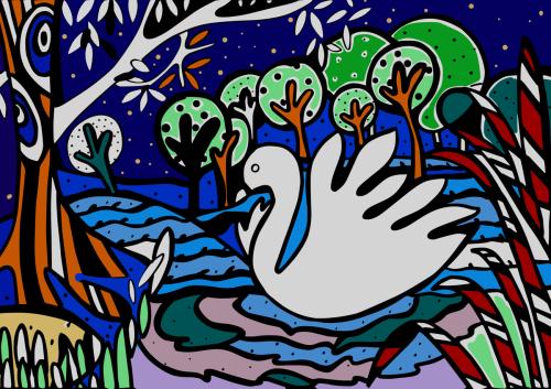 Swan Naive Art