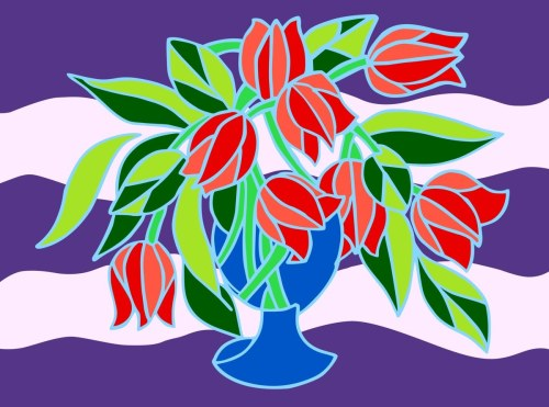 Tulips Semi- Abstract