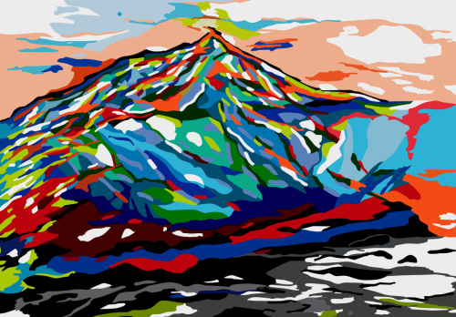 Everest in Fauvism