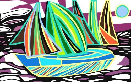 Sail Boats- Abstract