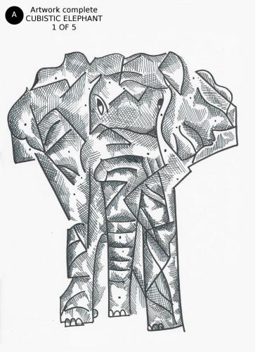 Cubistic Elephant