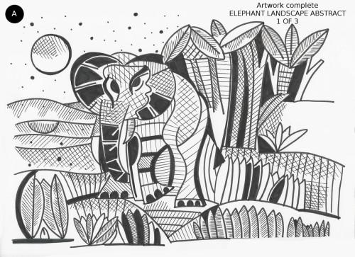 Elephant Landscape Abstract