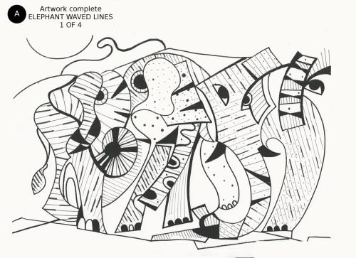 Elephants Waved Lines