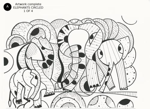 Elephants Circled