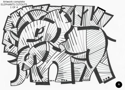 Elephants Cutouts