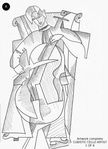 Cubistic Cello Artist