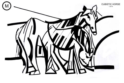 Cubistic Horse 1