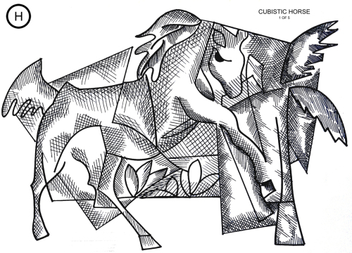 Cubistic Horse