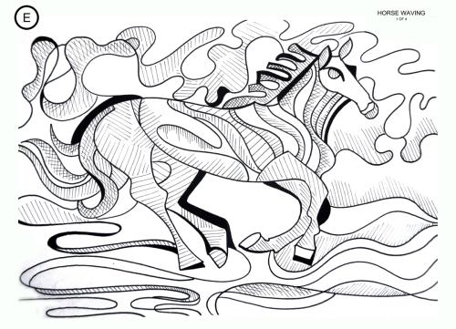 Horse Waving
