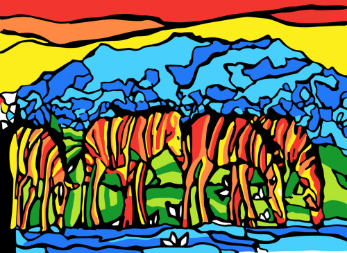 Zebras Savana