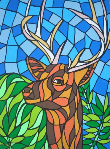 Deer- Inspired by unknown artist